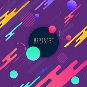 abstract background multicolored repeating decor circles icons