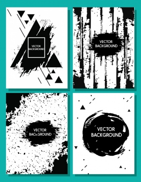 abstract background sets black decor grunge design