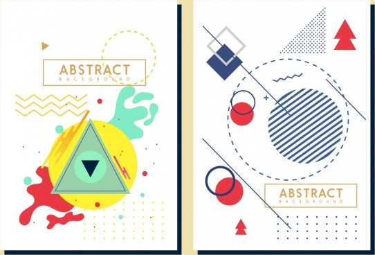 abstract background sets grunge geometric sketch