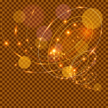 abstract background sparkling golden twisted lines decoration