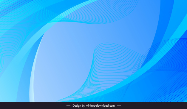 abstract background template blue dynamic curves sketch