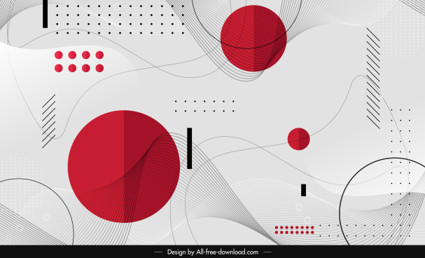 abstract background template bright colored geometric decor