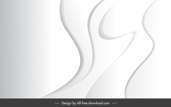 abstract background template bright white curves sketch