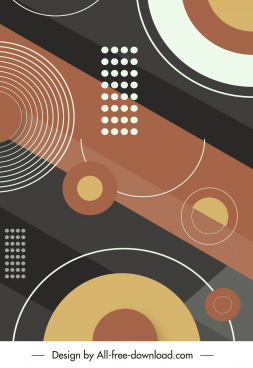 abstract background template colorful geometric circles decor