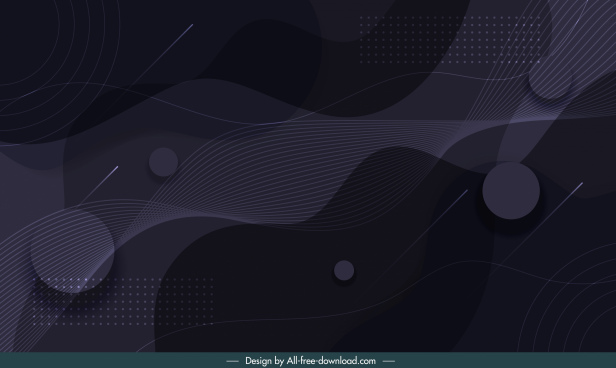abstract background template dark dynamic circles swirled decor
