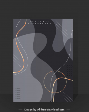 abstract background template dark elegant curves shapes