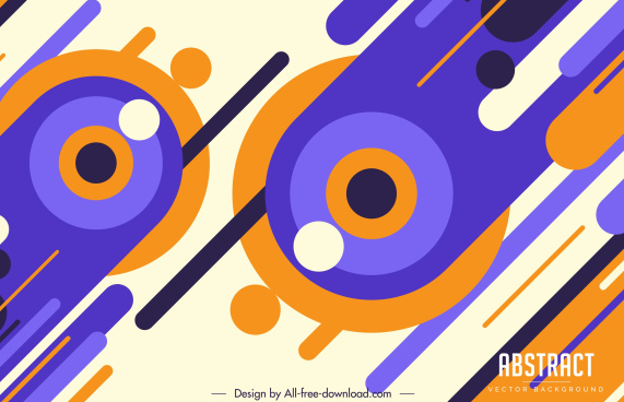 abstract background template flat colorful circles motion shapes