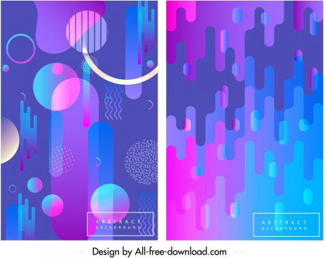 abstract background templates blue pink geometric ornament