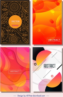 abstract background templates colored classical modern decor