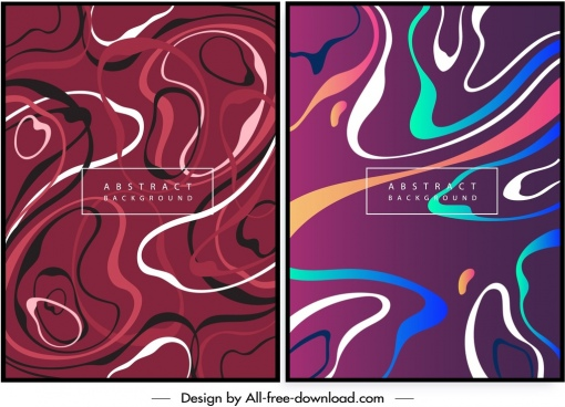 abstract background templates colored curves motion decor