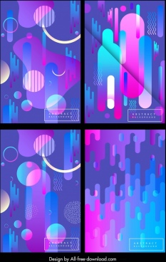 abstract background templates colorful circles melting illusion decor