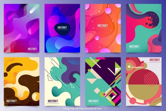 abstract background templates colorful deformed geometric decor