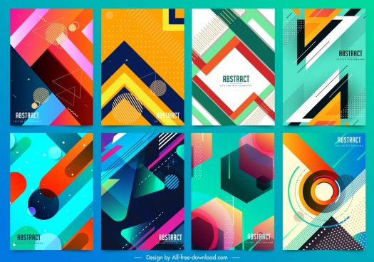 abstract background templates colorful geometrical decor