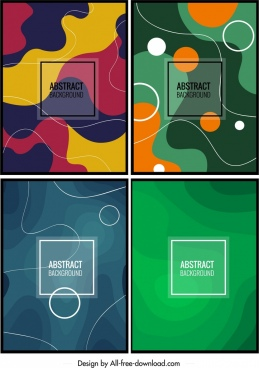 abstract background templates colorful illusion decor
