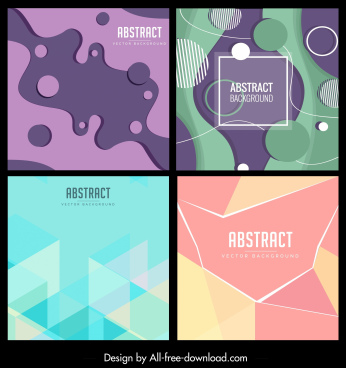 abstract background templates colorful modern flat decor