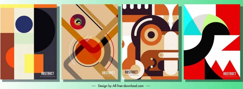 abstract background templates colorful modern flat sketch