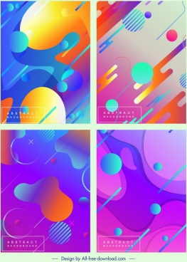 abstract background templates colorful modern geometric decor
