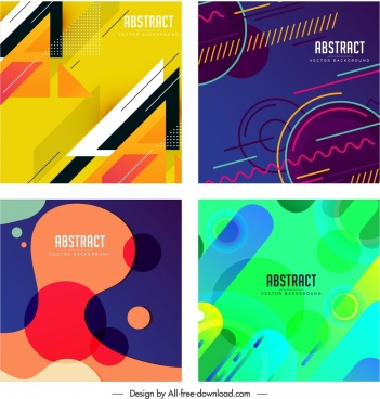abstract background templates dark colored flat geometric decor