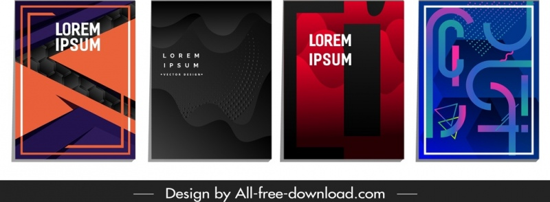abstract background templates dark colored geometric deformed decor
