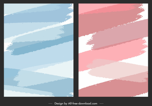 abstract background templates flat colored grungy ink decor
