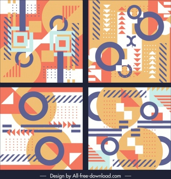 abstract background templates flat geometric decor