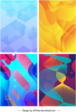 abstract background templates modern bright color mix decor