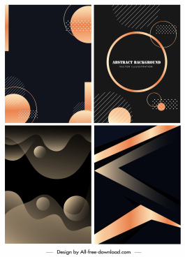 abstract background templates modern dark flat geometric decor
