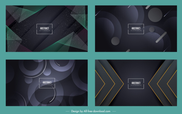 abstract background templates modern dark geometric decor