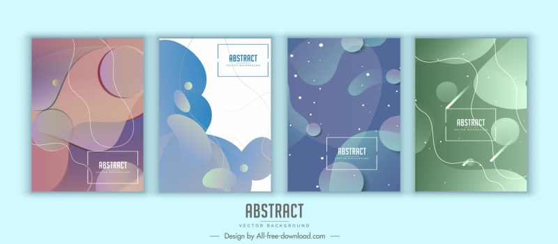 abstract background templates modern deformed shapes decor