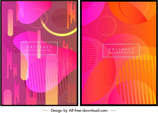 abstract background templates pink orange illusion decor