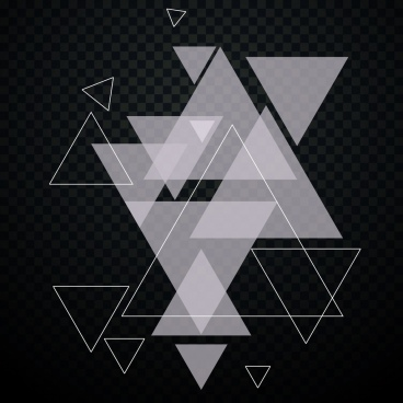 abstract background transparent triangles decor