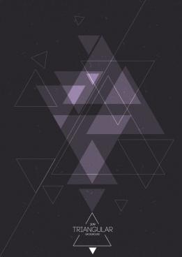 abstract background triangles sketch dark design
