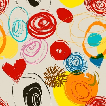 abstract background colorful flat handdrawn sketch