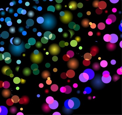 Abstract Background with Blurred Defocused Lights Vector Graphic