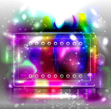 abstract background with colored bubbles vector graphic