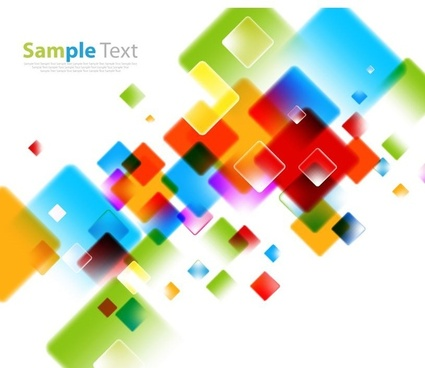 abstract background with colored squares vector illustration