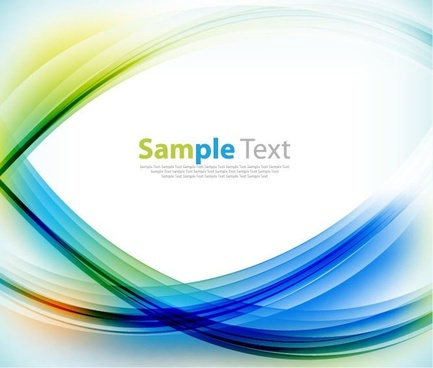 abstract background with colorful curves vector graphic