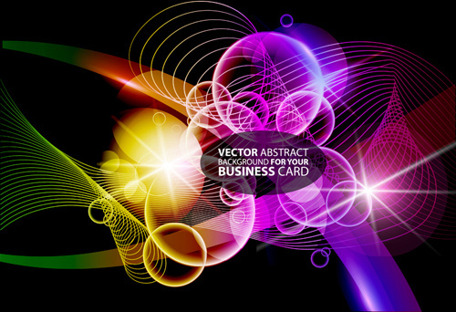 abstract background with colorful halation vector set
