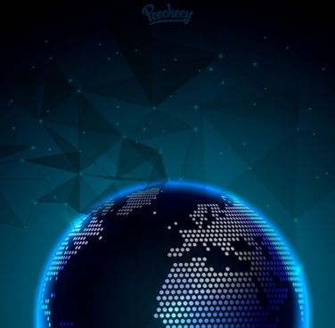 abstract background with glowing globe