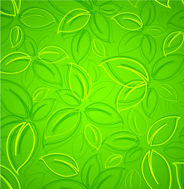 abstract background with green vector graphic