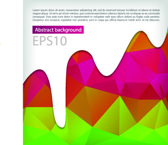 abstract background with paint vector