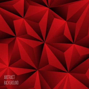 abstract backgroundred polygonal ornament