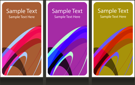 abstract backgrounds for business cards design vector