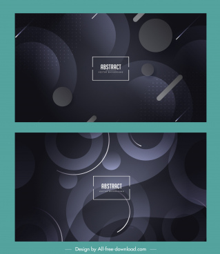abstract backgrounds modern dark design flat circles decor