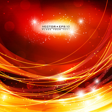 abstract backgrounds with fiery vector set