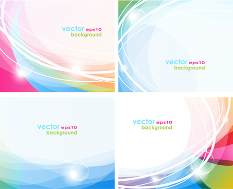 abstract backgrounds with shiny waves vector