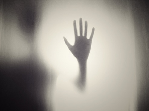 abstract backlit black and white blur eerie fear fine