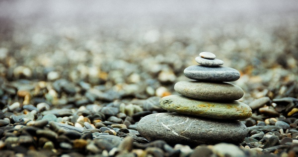 abstract balance beach boulder cobblestone gravel