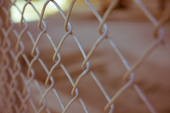 abstract ball blur color detail fence line mesh
