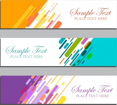 abstract banner templates multicolored geometric decoration